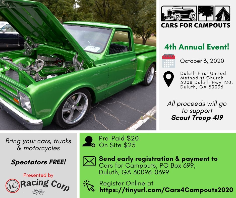 Cars for Campouts Event Info